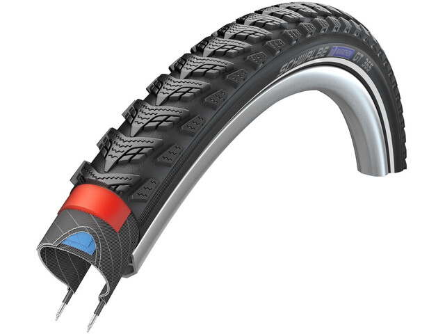 "SCHWALBE Marathon GT 365 Wired-on Tire 28"" DualGuard E-50 Performance Reflex, black"